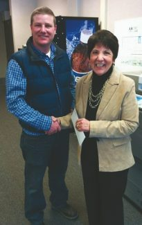 Submitted by Dianne ReesNathan Crnich is presented with a $400 CalRTA grant Jan. 25.