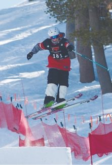 Courtesy of Jere Crawford Heavenly's Joshua Sullivan earns style points in a mogul competition at Heavenly Mountain Resort last weekend. Sullivan took sixth in duals on Sunday.