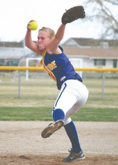 File photoFormer South Tahoe pitcher Melissa Smith throws during a game against Fallon in April 2011. Smith received a full-ride scholarship to pitch for a Division I school, Lamar University in Beaumont Texas.