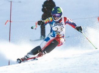 South Tahoe's Maia Bickert dominated both girls' races at Heavenly Mountain Resort in February.