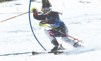 Becky Regan / Tahoe Daily TribuneSouth Tahoe's Mikaela Clothier turned in a third-place finish  in the final Tahoe Basin League race of the regular season at Heavenly on Tuesday.