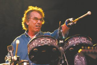 1/16/2009: B1: Mickey Hart performs during the Harmony Festival in June at the Sonoma County Fairgrounds.