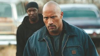 """Watch out, Rock, Omar comin' up behind ya! Michael K. Williams and Dwayne Johnson star in """"Snitch."""""""