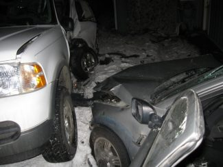 Courtesy of the city of South Lake TahoeA Volvo was reportedly driven into two parked cars Thursday night on Fountain Avenue in South Lake Tahoe.