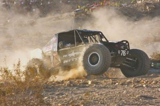 Charlene Bower / Bower Motorsports MediaJason Scherer racing at full bore. The Lake Tahoe resident ran the Griffin King of the Hammers race through 165 miles of desert Feb 8.
