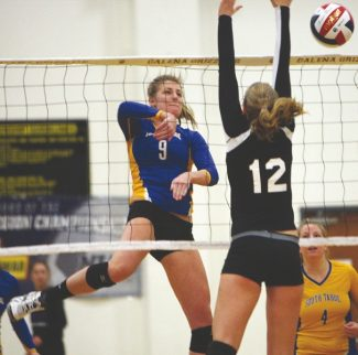 Becky Regan / Tahoe Daily Tribune Drew Norberg verbally committed to playing Division I volleyball at Kent State in the fall. Norberg helped lead the South Tahoe High School volleyball team to a state championship title in November.