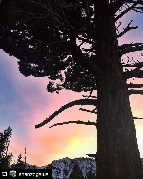 Tie-dye skies. Submitted using #TahoeSnaps.