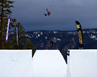 "South Lake Tahoe resident Martin Rubio films local Olympic hopeful Kyle Smaine at Sierra-at-Tahoe last year. Smaine will be featured in the film ""Coming Home,"" which will premiere at The Gathering 2013."