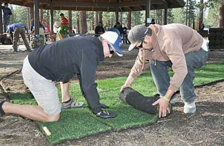 Volunteers lay sod Sept. 21 during the fourth annual Vail Resorts Echo Day.