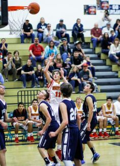 Colin Buchholz had 10 points in Whittell's win against Eureka in the first game of the north zone tournament on Feb. 22.