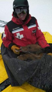 Chris Grasso, a member of Heavenly Ski Patrol, helped respond to an injured bear at the resort Monday.