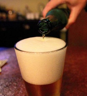 A beer is poured Aug. 4 at a Tahoe area bar.