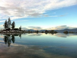 Lake Tahoe benefits from license plate fees in Nevada.