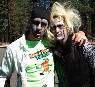Runners donned their best costumes for the inaugural Freakin' Fun Run this past weekend.