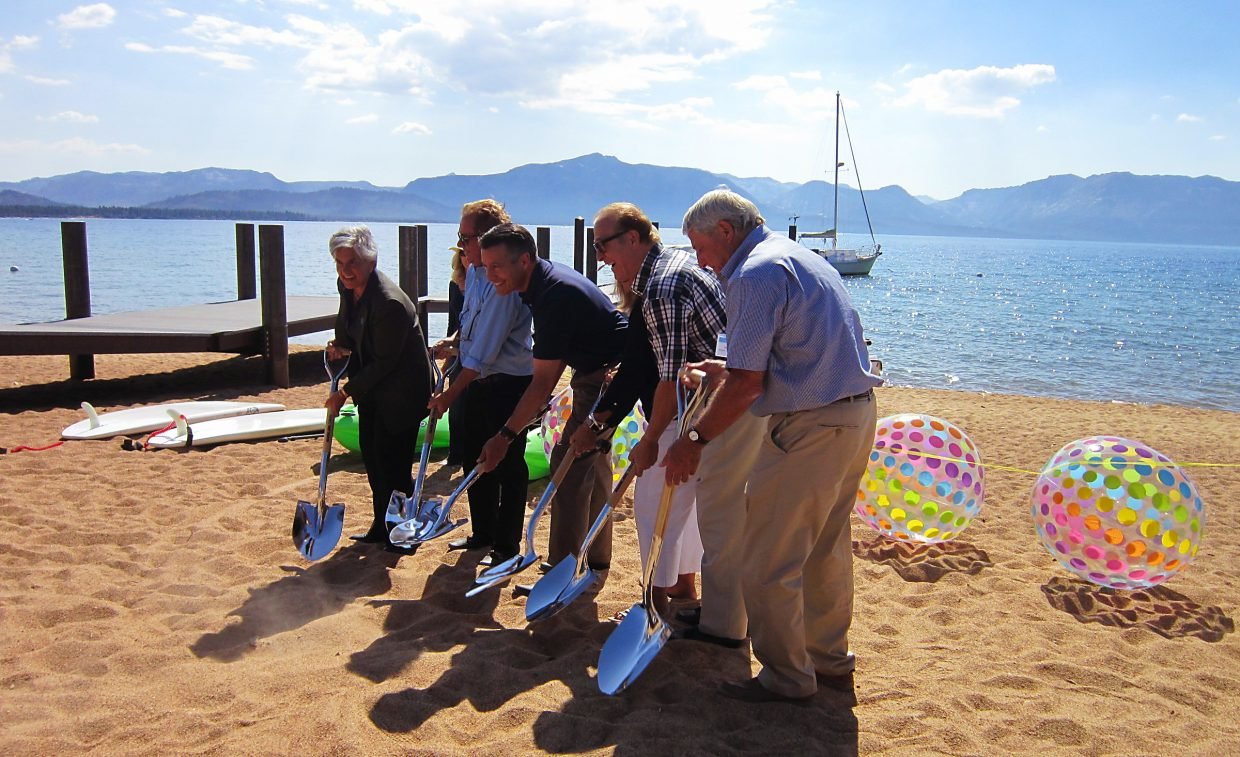 Tahoe Beach Club's groundbreaking ceremony was held Monday afternoon, Aug. 15.