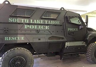 South Lake Tahoe Police Department acquired a $638,000 armored vehicle for free through a federal program that offers excess military equipment to law enforcement agencies.