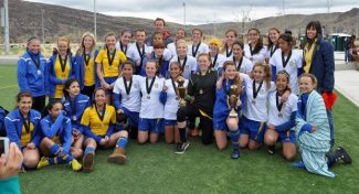 The South Tahoe Futball Club Outlaws and Hawks who won their respective divisions this past weekend at the Sagebrush Start-Up tournament in Reno and Sparks.