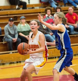 Sophomore guard Daria Sharon scored four points for Whittell in the Lady Warriors' 51-28 loss to Smith Valley on Saturday.