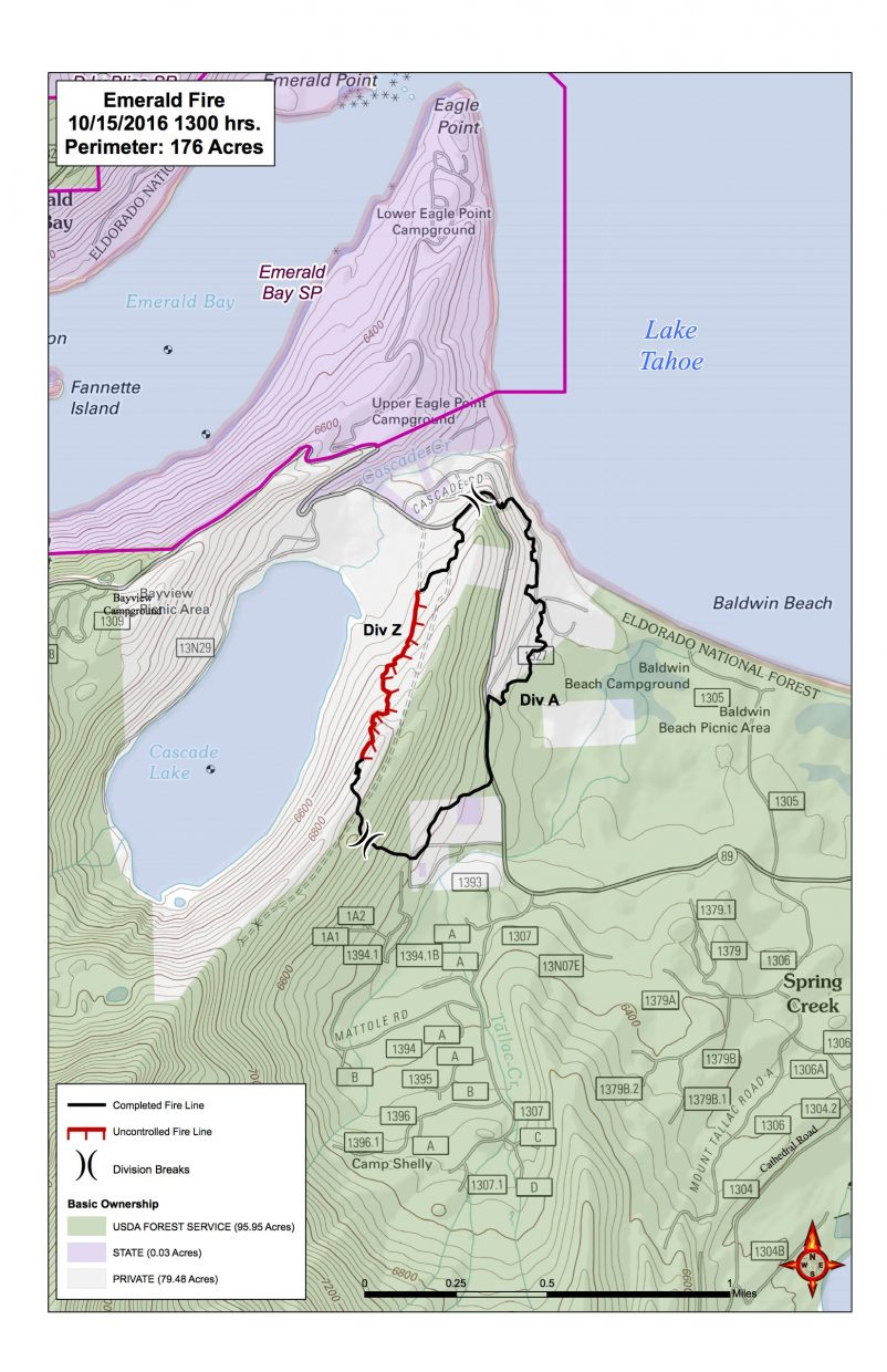 Emerald Fire Map 10 15 2016 Courtesy U S Forest Service