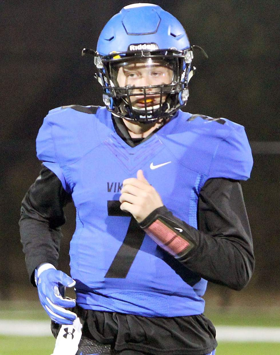 Vikings senior Tommy Cefalu threw for five touchdowns Friday in his first home start of the season.