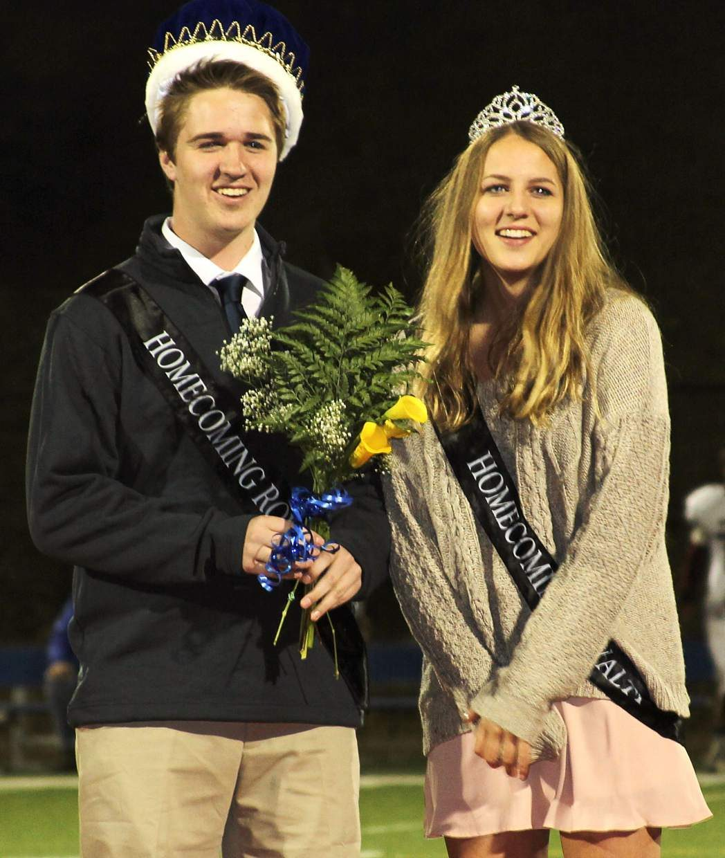 STHS seniors Charlie Filce (left) and Maia Smith (right) were elected homecoming king and queen Friday.