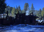 Firefighters managed to keep the fire isolated to a single structure.