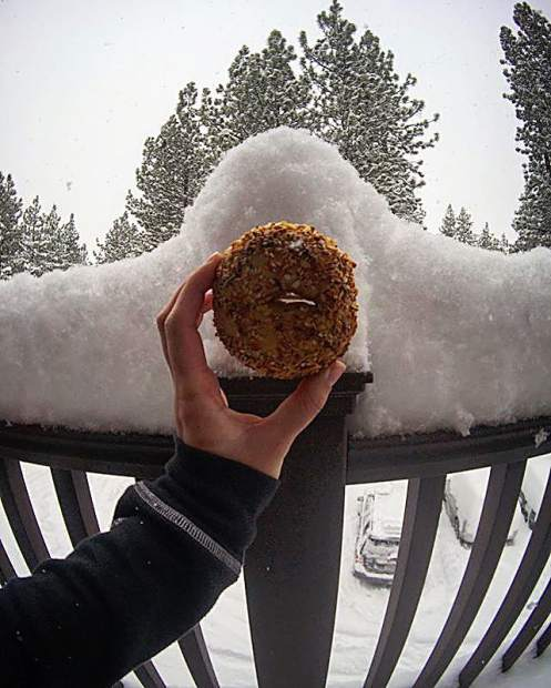 bagels deep snow out here!
