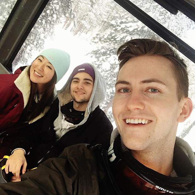 Skiing with these creatures.