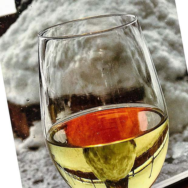 Gotta love a glass of wine during an epic snowstorm!