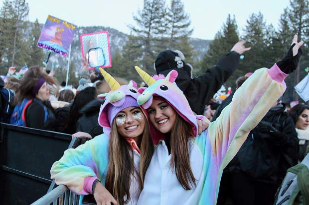 Onesie animal costumes were all the rage at SnowGlobe 2016.