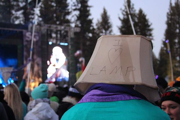 Many SnowGlobe attendees pride themselves on having the most random outfits. Case and point: