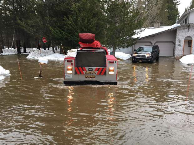 Flooding occurred in South Lake Tahoe in January 2017.