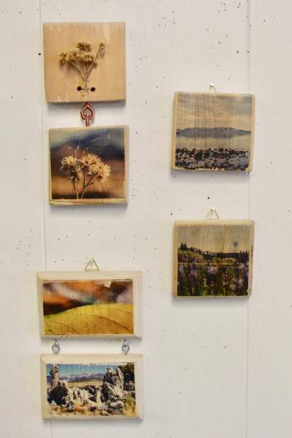 Claire Dougherty transfers the photos she takes of the Sierra Nevada region onto wood.