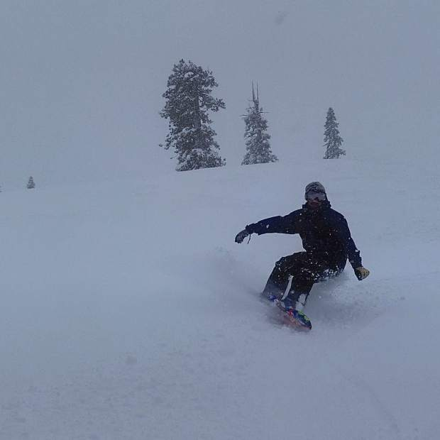 The roads were crappy, so we stayed right at home in the backyard and had a great time slaying deep untracked pow, no lift lines and lots of flat parts where you get stuck if you weren't careful.