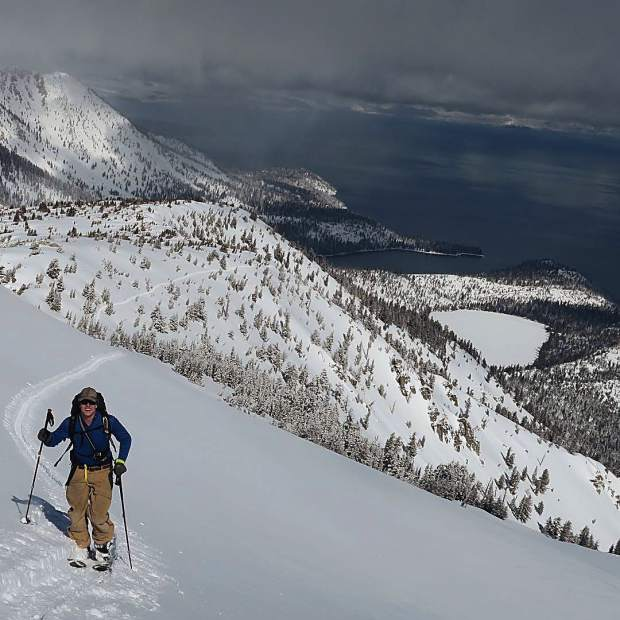 Special day on Tallac. Incredible turns, good friends, and decent views.