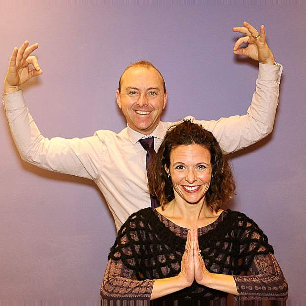 Blue Angel Cafe owner Jeff Cowen and Rhonda Keen, Sierra Sothebys International realtor and professional dancer, will perform Bollywood at the fundraiser.