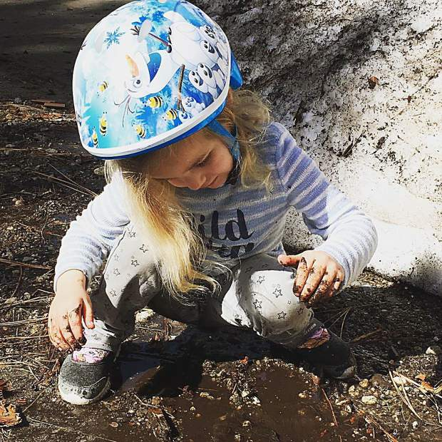 With the Spring melt in Tahoe comes... mud pie season.