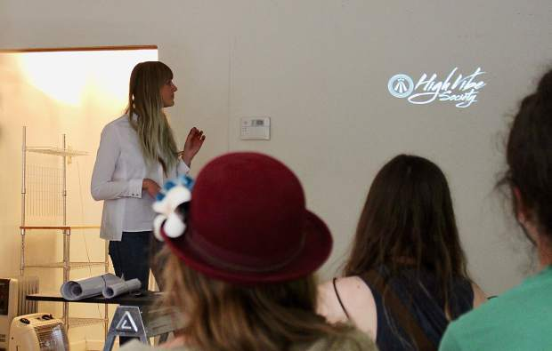 High Vibe Society founder Erin Ulcickas explains her vision for the shared studio space at an informational session onWednesday, May 3.
