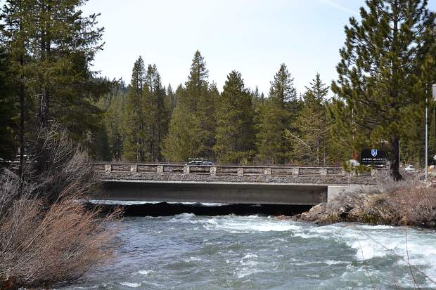 Truckee River Floods Bike Path Between Tahoe City And Squaw Valley