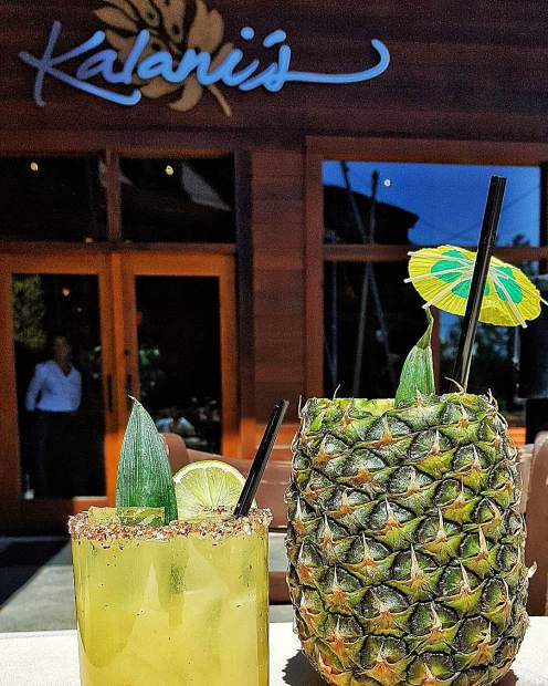 Come enjoy a Fresh Pineapple Margarita on the patio!