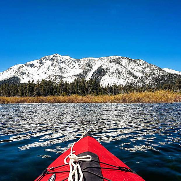 There aren't many places in the world more beautiful than this where you can go kayaking and skiing in the same day.