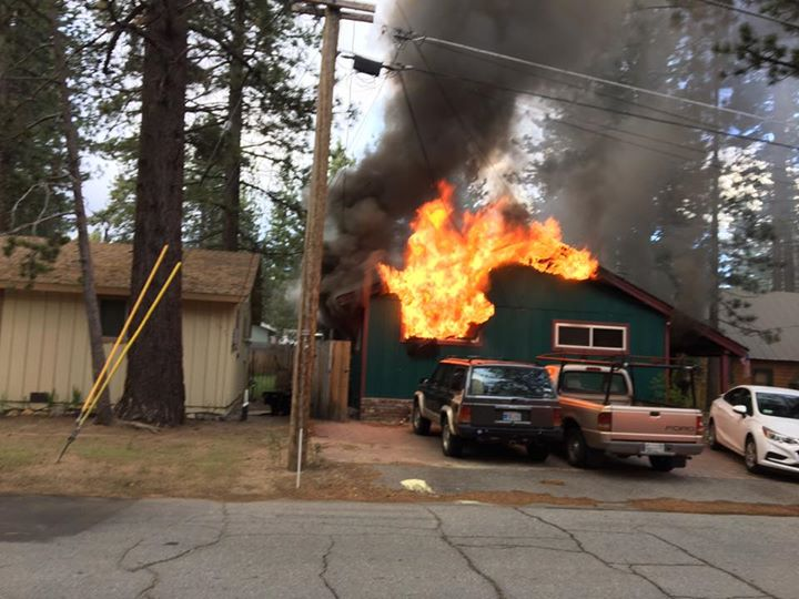 A fire erupted in the 800 block of Paloma Avenue Friday morning.