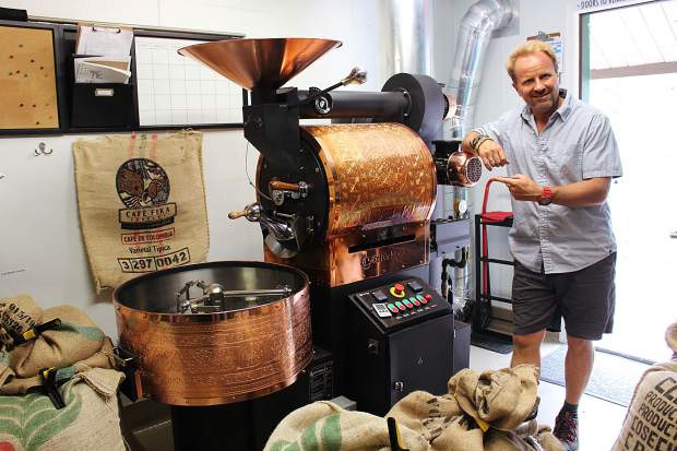 Craig Quillin imported a top-of-the-line coffee roaster from Turkey.