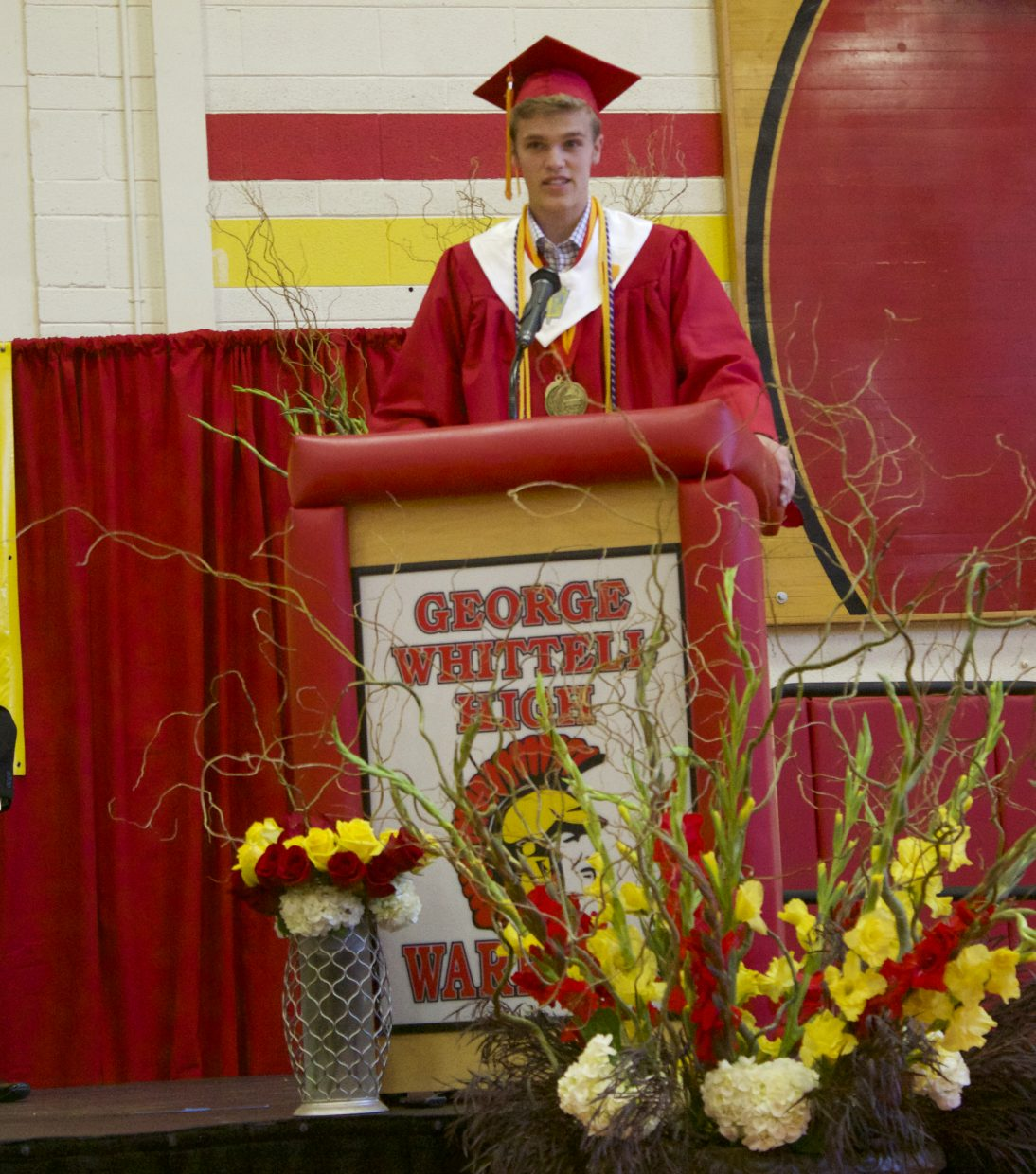 Valedictorian Scott Harrison reminded his classmates of the value of hard work.