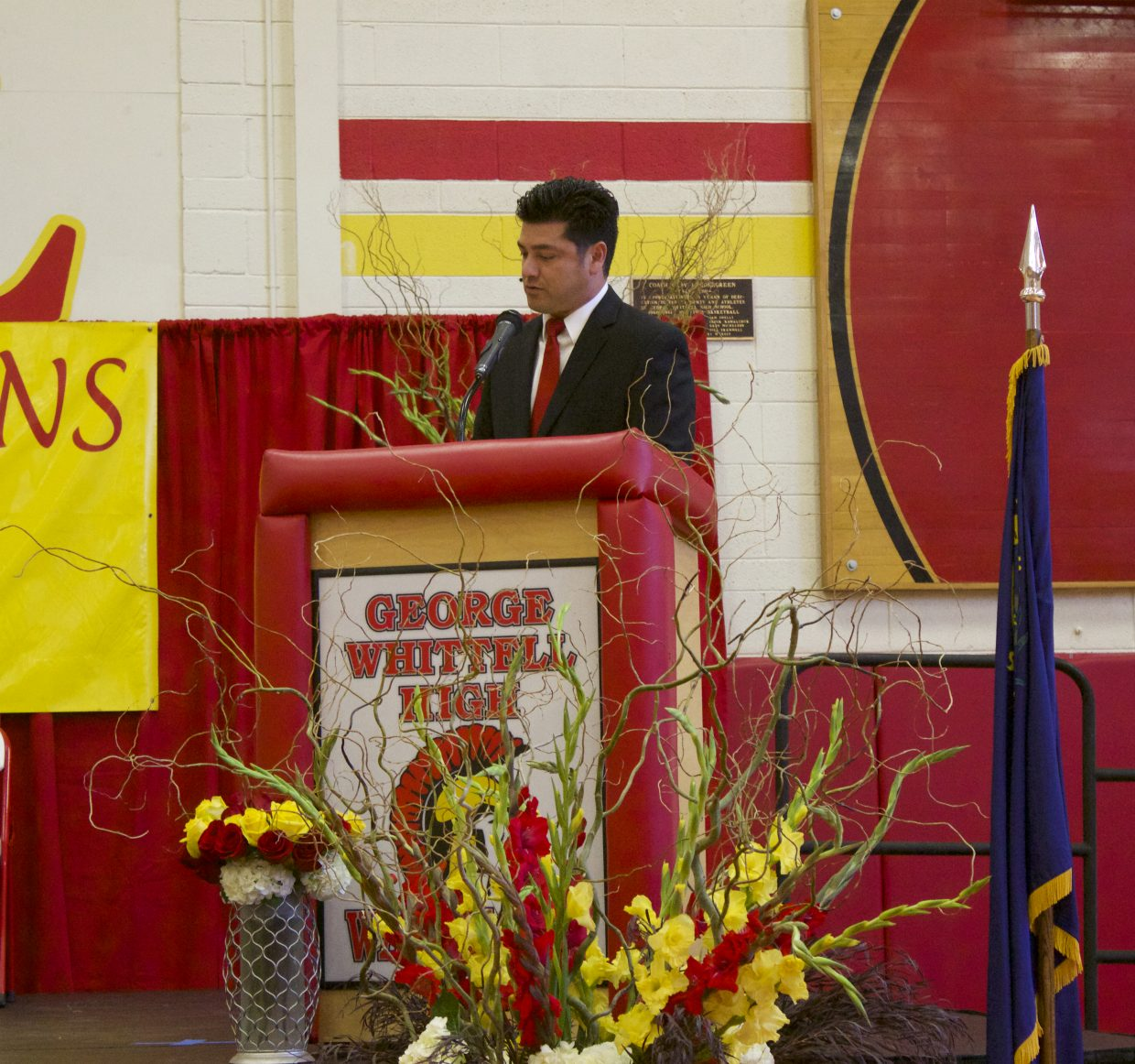GWHS principal Crespin Esquivel opened the graduation ceremony with a the message of being tenacious and resilient.