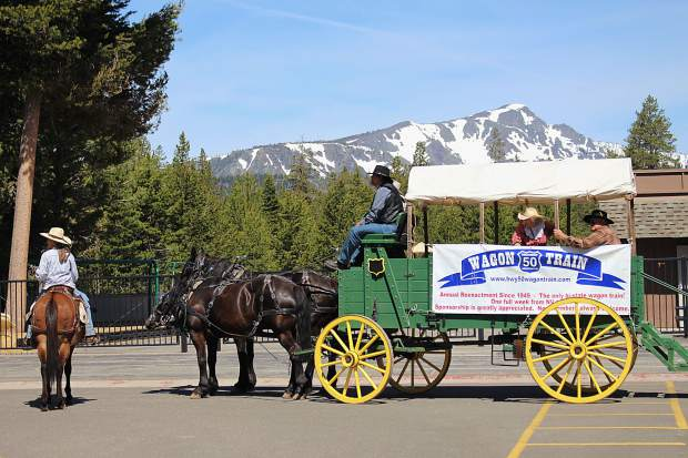 The Wagon Train stopped off at Lake Tahoe Environmental Science Magnet School in Meyers on Monday, June 5.