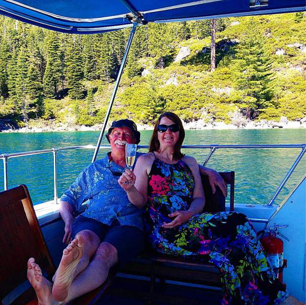 Who wants to just chill in Emerald Bay with these two? They're the best!