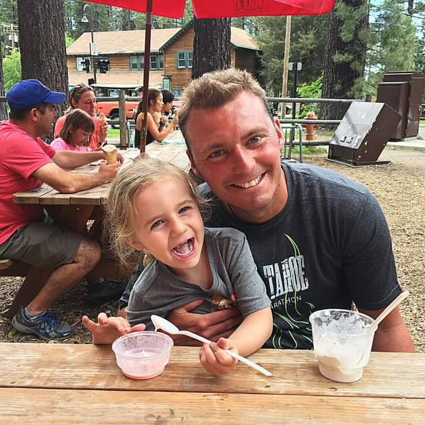 Happy Father's Day! Ice cream at Camp Richardson.