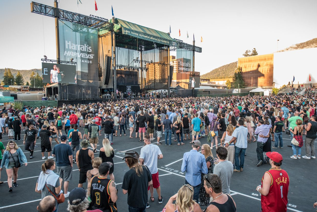 Reggae band Rebelution brought the The Good Vibes Summer Tour 2017 to Harveys Lake Tahoe Friday, June 30.