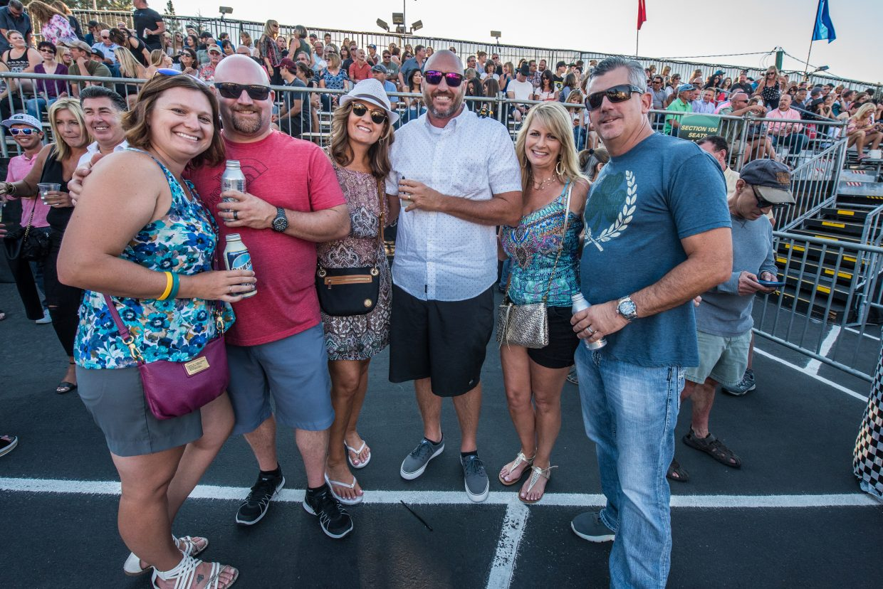 Concert goers flock to see Train perform at the Harveys Lake Tahoe outdoor concert venue on Sunday, July 9th.